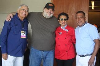 Verni Salazar, Miguel Soler, Esther González y Alfredo Díaz